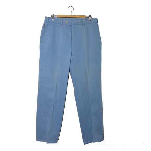Burberry London Men's Powder Blue Suit Pants FLAW